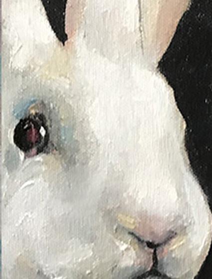 detail of Bonny Rabbit painting