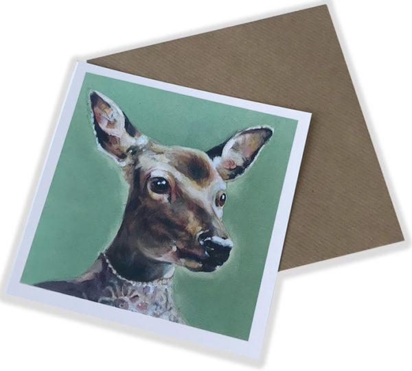 Greetings Card - Debutante Deer