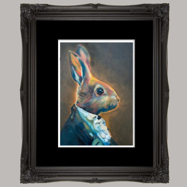 Dusk Bunny black frame